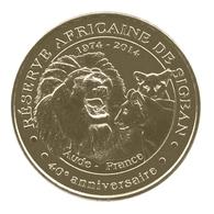 Monnaie De Paris , 2014 , Sigean , Réserve Africaine, Le Lion Et Sa Famille , 40e Anniversaire - Monnaie De Paris