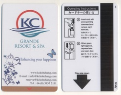 Hotelkey Key Card Hotel KC Grande Resort & Spa Haad Sai Khao THAILAND - Hotelkarten