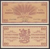 FINNLAND - FINLAND 100 MARKKA 1957 PICK 97a VF+ (3+)   (24960 - Finland