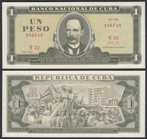 Kuba - Cuba 1 Peso Banknote 1968 Pick 102a XF (2)  (25756 - Billetes