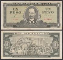 Kuba - Cuba 1 Peso Banknote 1961 Pick 94a VF- (3-)  (25757 - Bankbiljetten