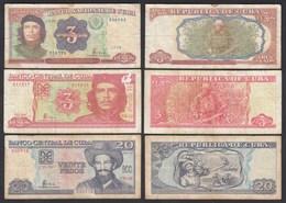 Kuba - Cuba - 3 Stück Banknoten Aus 1995-2004 F    (25814 - Billetes