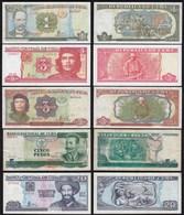 Kuba - Cuba - 7 Stück Banknoten Aus 1991-2004 VF/aUNC    (25813 - Billetes