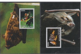 GABON 2005 FROG BAT 4 S/SHEETS - Grenouilles