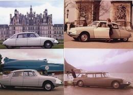 CITROEN ID19/DS19  -  Lot De 4 Voitures/Automobiles  -  4 X Cartes Postales Modern - 4xCPM - Turismo