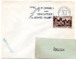 SEINE Et MARNE - Dépt N° 77 = FONTAINEBLEAU 1956 =  FLAMME CONCORDANTE 878 SECAP Illustrée '3ème Congrès Des éducateurs' - Postmark Collection (Covers)