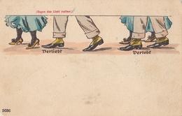 Vintage Hold To Light Gegen Das Licht Halten Postcard - Tegenlichtkaarten, Hold To Light