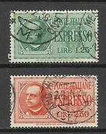 ITALY 1932/33 Michel 414 & 436 Eilmarken Espresso O - 1900-44 Victor Emmanuel III.
