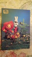 Bunny, Big Tit And Pig / Cochon - GOOD NIGHT, KIDS!  Toy - OLD Soviet PC 1991 - Mushroom, Champignon - Champignons