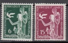 DR  622-623, Postfrisch *, Weltkongress Freizeit Und Erholung 1936 - Neufs