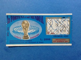 LOTTERIA ISTANTANEA GRATTA E VINCI USATO L. 2000 LA FORTUNA COL MUNDIAL - Lottery Tickets