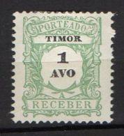 PORTUGAL/TIMOR ( TAXE ) : Y&T  N°  1  TIMBRE  NEUF  SANS  GOMME  AVEC  TRACE  DE  CHARNIERE , A  VOIR . - Timor
