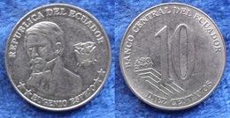 """ECUADOR - 10 Centavos 2000 """"Eugenio Espejo"""" KM# 106 Reform Coinage (2000) - Edelweiss Coins - Ecuador"""