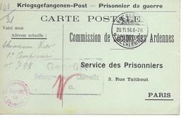 Ardennes    Givet  Victor Thouvenin    Chemnitz   Prisonnier - Poststempel (Briefe)
