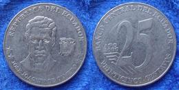 "ECUADOR - 25 Centavos 2000 ""Olmedo"" KM# 107 Reform Coinage (2000) America Coin - Ecuador"