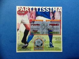 BIGLIETTO LOTTERIA ISTANTANEA GRATTA E VINCI USATO € 1,50 PARTITISSIMA - Biglietti Della Lotteria