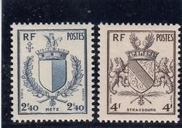 France - 1945 - N° YT 734/35** - Armoiries - Nuovi
