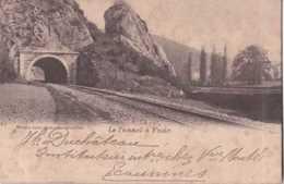 Yvoir - Le Tunnel - Chemin De Fer - Circulé En 1902 - Dos Non Séparé - BE - Yvoir