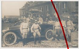 Ca. 1915 - Brüssel Bruxelles - Östereichische Truppen Und Kanonen In Der Caserne D'Artillerie - Auto Voiture Car - Bélgica