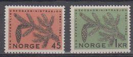 Norway 1962 Forstverwaltung 2v ** Mnh (45308) - Noorwegen