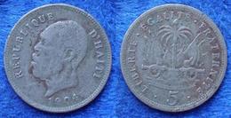 HAITI - 5 Centimes 1904 KM# 53 America - Edelweiss Coins - Haiti
