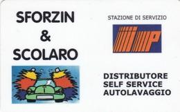 SCHEDE TESSERE SERVIZIO CARBURANTI IP SFORZIN & SCOLARO  NON ATTIVA - Unclassified
