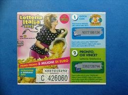 2013 BIGLIETTO LOTTERIA NAZIONALE ITALIA ESTRAZIONE 2014 ANNI 80 LA PROVA DEL CUOCO - Biglietti Della Lotteria