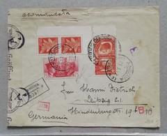 Raccomandata Da Ancona Per Leipzig - 21/03/1942 - Storia Postale