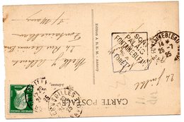 SEINE Et MARNE - Dépt N° 77 = FONTAINEBLEAU 1925  (TEXTE En DIAGONALE ) = FLAMME DAGUIN ' PALAIS + FORET ' - Maschinenstempel (Sonstige)