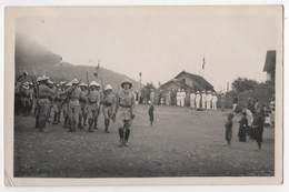 Carte Photo Viet Nam Indochine Tonkin Militaria Coloniaux Tirailleurs Annamites Fanfare - Vietnam