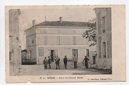 - CPA NÉRÉ (17) - Hôtel Du Cheval Blanc (avec Personnages) - Edition A. Geoffroy - - Francia