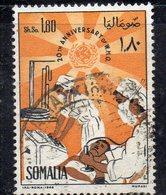 XP2930 - SOMALIA 1968 , 1 Som E 80 Cent Yvert N. 82 Usato  (2380A) - Somalia (1960-...)