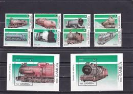 Gambia : 1989 Railway / Trains / Steam Locomotives. Set/8 MNH** - Treni