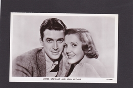 James Stewart & Jean Arthur.    Actor/Actress.    Picturegoer Series. (Card Number P265).   RPPC. - Schauspieler