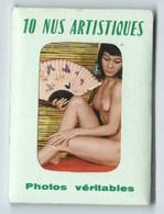 POCHETTE 10 NUS ARTISTIQUES (photos Veritables ) Complet TRES BON ETAT Dim : 6,5cm/ 9.0 Cm - Beauté Féminine D'autrefois (1941-1960)