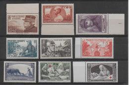 1940 - YVERT N° 451/457+459/460 MNH **  - COTE = 95 EUR. - - France