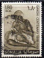 XP2940 - SOMALIA 1969 , 1 Som E 80 Cent Yvert N. 112 Usato  (2380A)  Ghandi - Somalia (1960-...)