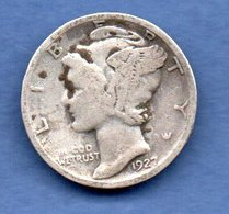 USA  -  1 Dime 1927   -  Km # 140  -  état  TB - 1916-1945: Mercury (Mercurio)