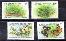 Christmas Island Serie Completa Nº Yvert 249/52  ** MARIPOSAS (BUTTERFLIES) Valor Catálogo 12.0€ - Christmas Island