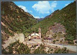 °°° Cartolina - Montefortino Santuario Madonna Dell'ambro Gola Del Fiume Viaggiata °°° - Ascoli Piceno
