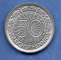 Allemagne -  50 Reichspfennig 1928 E  -  Km # 49  -  état  SUP - [ 3] 1918-1933: Weimarer Republik