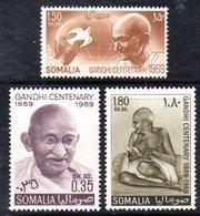 XP4065 - SOMALIA 1969 ,  Serie Yvert N. 110/112  *** MNH  Ghandi - Somalia (1960-...)