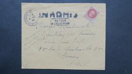 Lettre Du Havre Decembre 1944 Affranch. Petain Griffe INADMIS Et Retour Envoyeur ( Démonétisation Du Timbre Petain ) - Marcophilie (Lettres)