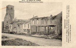 Haraucourt Guerre De 1914 Le Centre Du Village - Frankrijk