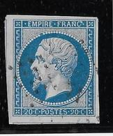 France N°14 - Variété Points Parasites Dans La Légende Supérieure - TB - 1853-1860 Napoléon III