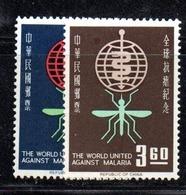 APR2560 - FORMOSA TAIWAN 1962 , Yvert N. 401/402  * Linguella (2380A)  Malaria - 1945-... Republiek China