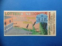 1993 BIGLIETTO LOTTERIA NAZIONALE REGATA STORICA DI VENEZIA - Biglietti Della Lotteria