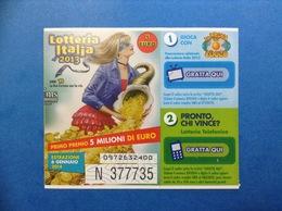 2013 BIGLIETTO LOTTERIA NAZIONALE ITALIA ESTRAZIONE 2014 ANNI 90 LA PROVA DEL CUOCO - Biglietti Della Lotteria