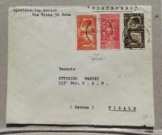 Busta Di Lettera Roma-Finale (SV) - 26/01/1942, Valori Gemelli - Storia Postale