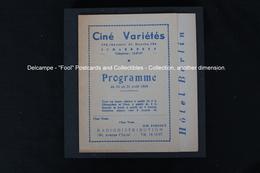 Schaerbeek Cinéma Ciné Variétés Ch. De Haecht Film Hôtel Berlin Peter Lorre 1949 The Last Days Of Hitler's Terror - Programmes